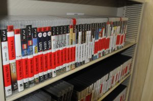 Hundreds of books in several languages at Detainee Library